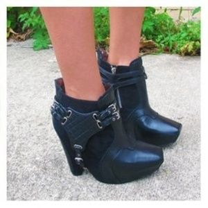 Sam Edelman Zoe Black Leather Booties 7